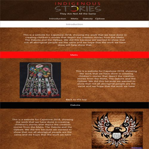 Indigenous Stories -  Html/CSS