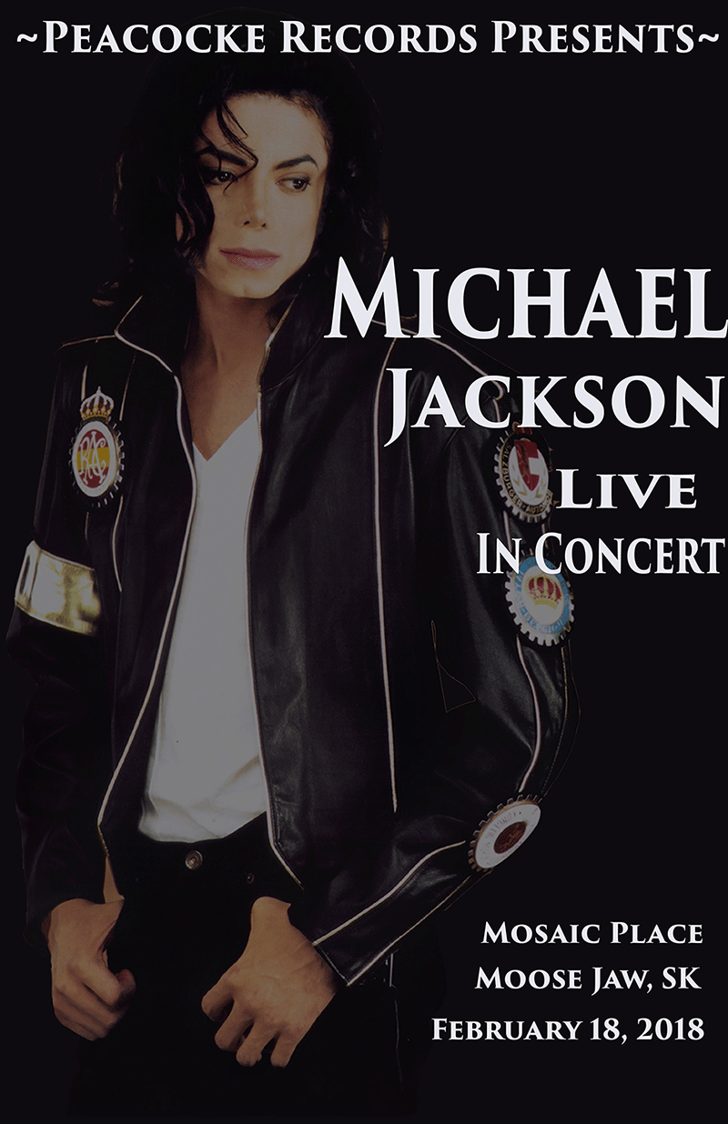 Michael Jackson Live in Concert - Example Poster
